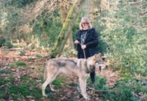 Sara with Wolf